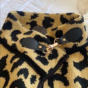 Janice Apparel Cheetah Print Poncho